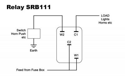 Lucas Type SRB111 Normally Open Relay