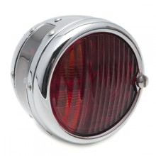 'Pork Pie' Rear Lamp - Chrome