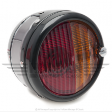 'Pork Pie' Rear Lamp/Flasher - Black