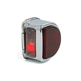 Rear Lamp 'D' type without bar - ST51 Chrome