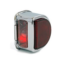 Rear Lamp 'D' type without bar - Chrome